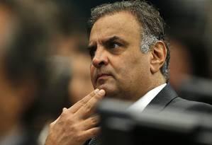 O diretório nacional do PSDB deve apreciar nesta quarta o pedido de expulsão de Aécio Neves do partido Foto: Jorge William / Agência O Globo
