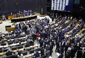 Sessão para continuação da votação da reforma da Previdência Foto: Luis Macedo / Câmara dos Deputados