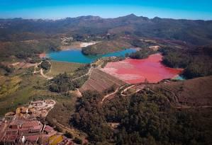 A barragem de ouro na cidade de Raposos Foto: Pablo Jacob / Agência O Globo