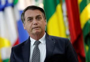 O presidente Jair Bolsonaro fala sobre a relação com os Estados Unidos Foto: Adriano Machado / Reuters