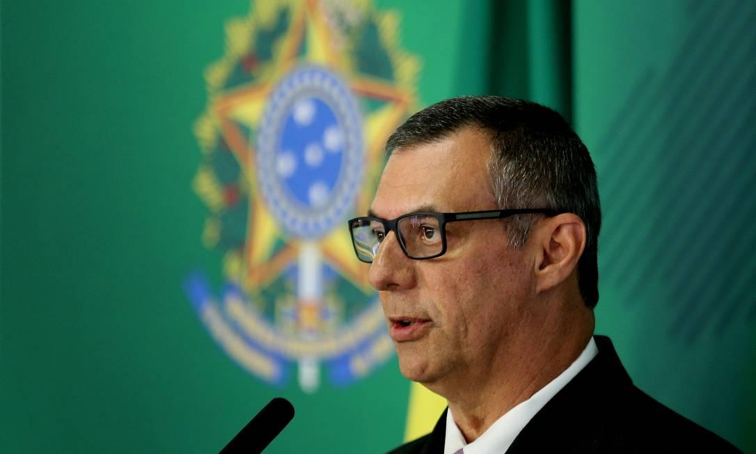 O porta-voz se recusou a comentar sobre críticas de Carlos Bolsonaro Foto: Jorge William / Agência O Globo