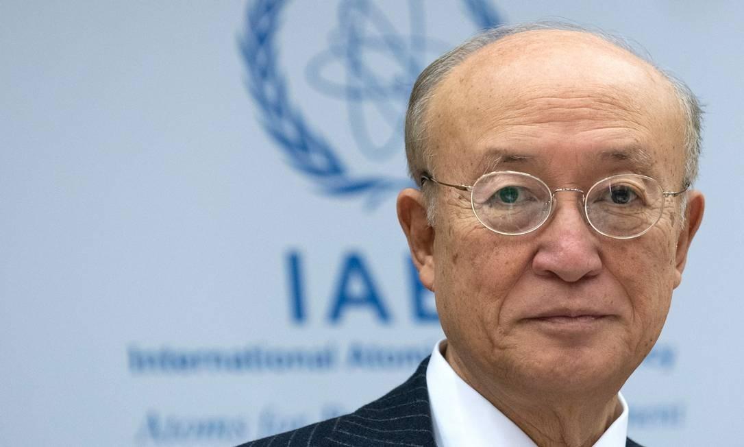 Yukiya Amano, chefe da AIEA, faleceu nesta segunda-feira, aos 72 anos. Durante seu mandato, a agência atravessou uma série de crises diplomáticas relacionadas aos programas nucleares do Irã e da Coreia do Norte. Foto: JOE KLAMAR / AFP/22-11-2018