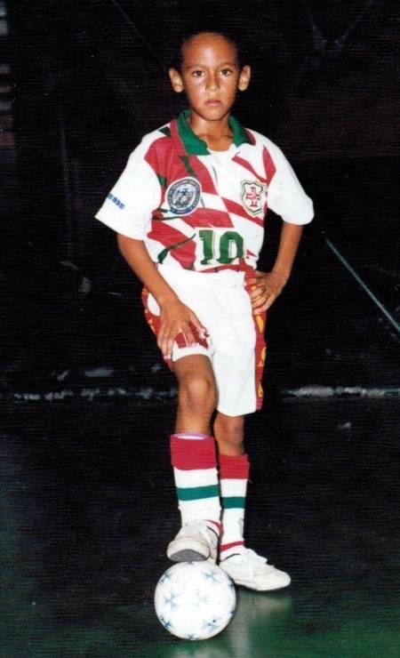 Neymar no início da carreira, na Portuguesa Foto: Reprodução / Instagram