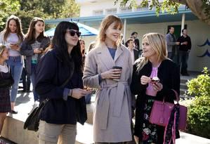Shailene Woodley, Nicole Kidman e Reese Witherspoon na segunda temporada de 'Big Little Lies', da HBO Foto: Divulgação