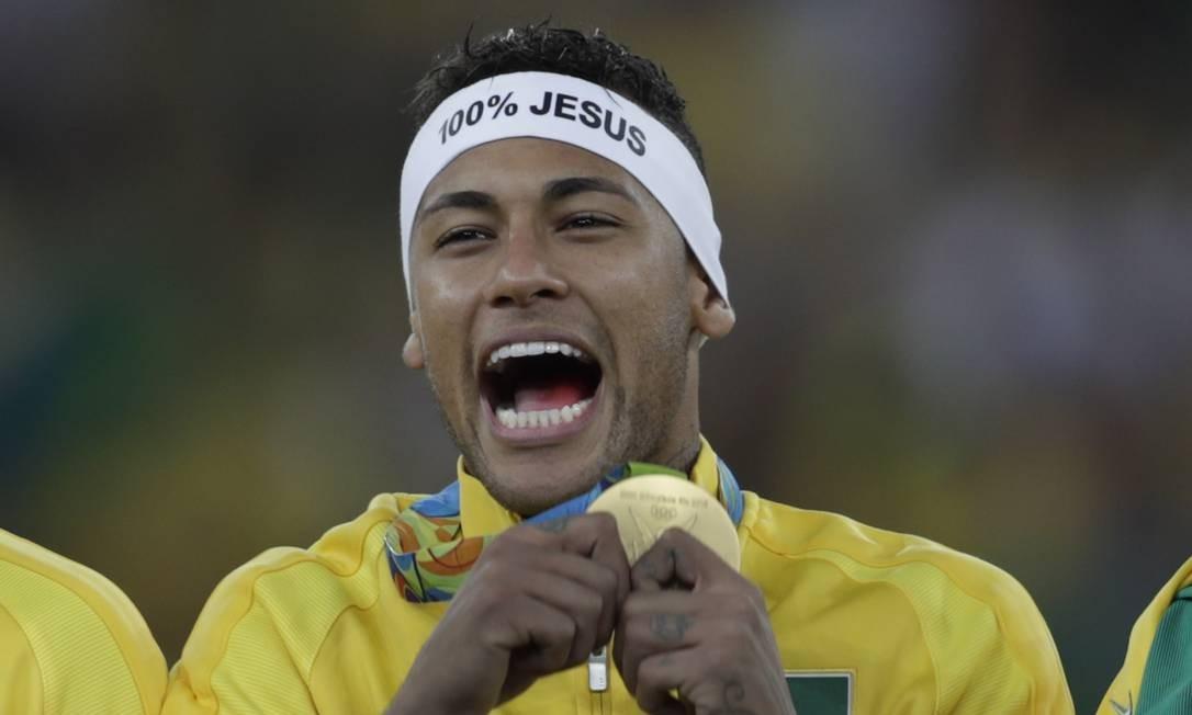 Na Olimpíada de 2016, Brasil vence a Alemanha no Maracanã e conquista a medalha de ouro Foto: Antonio Scorza / Agência O Globo
