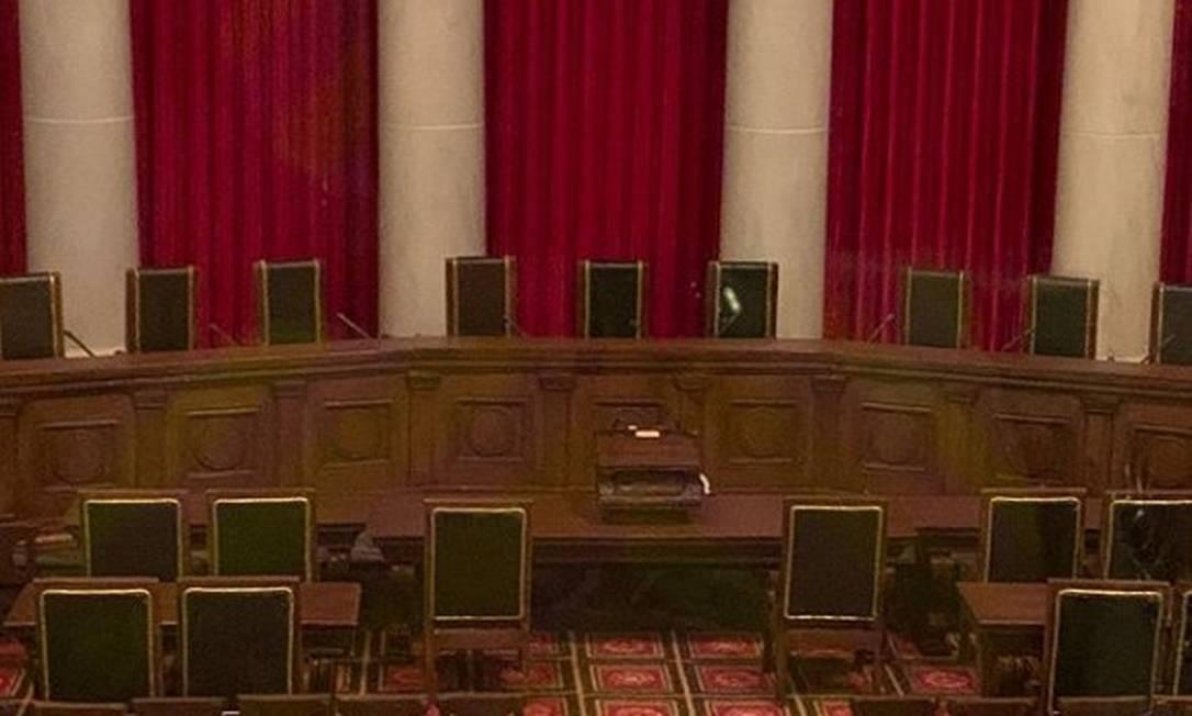 Rosângela Moro mostra plenário da Suprema Corte dos EUA Foto: Reprodução/Instagram