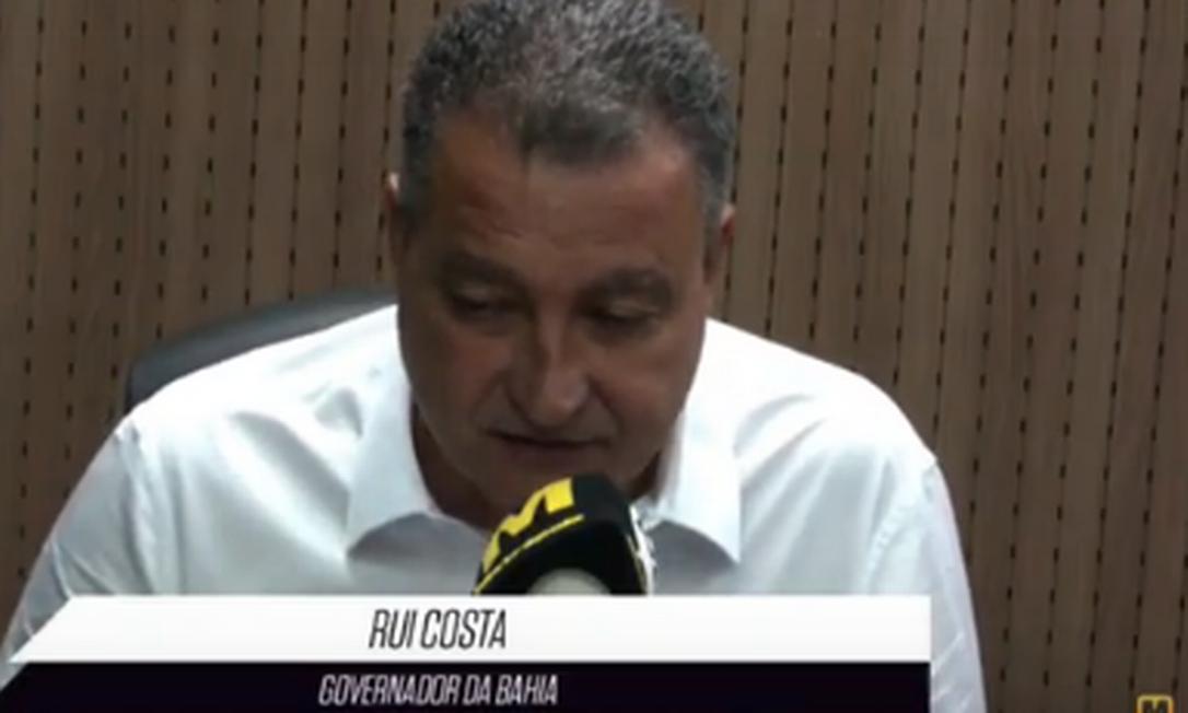 Rui Costa durante entrevista à Rádio Metrópole Foto: Reprodução