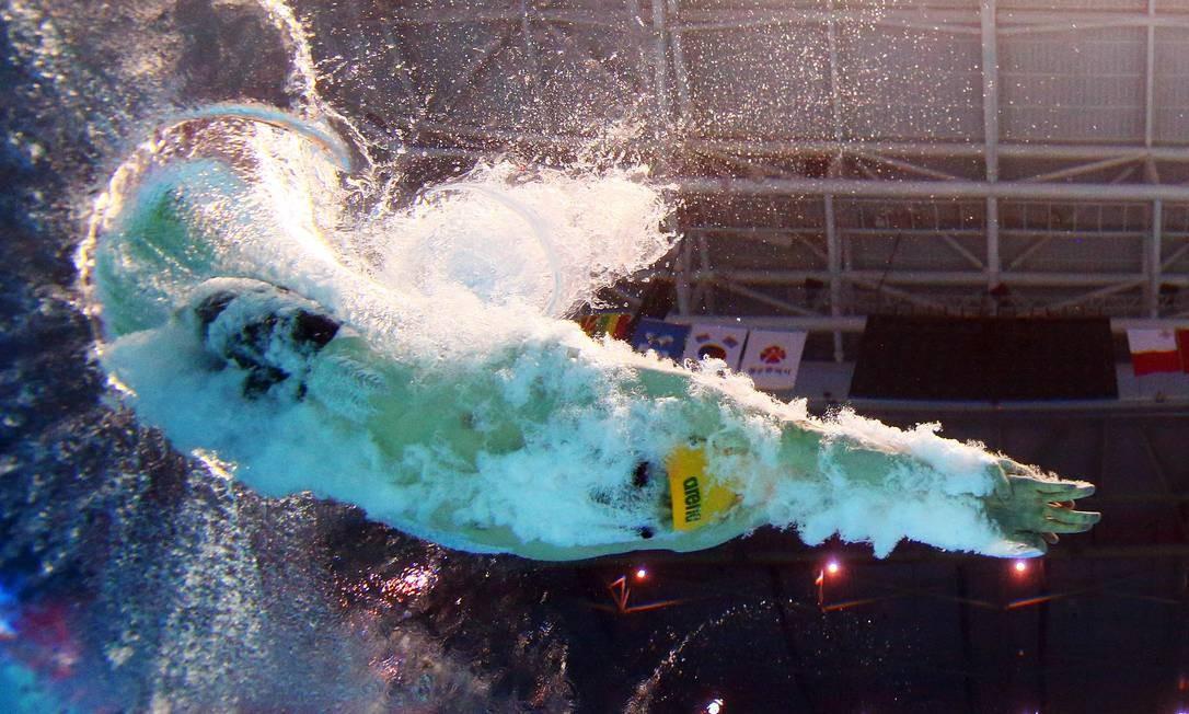 Clyde Lewis, da Austrália, concorre na final dos 200m livre masculino do Campeonato Mundial de Natação, em Gwangju, Coreia do Sul Foto: STEFAN WERMUTH / REUTERS