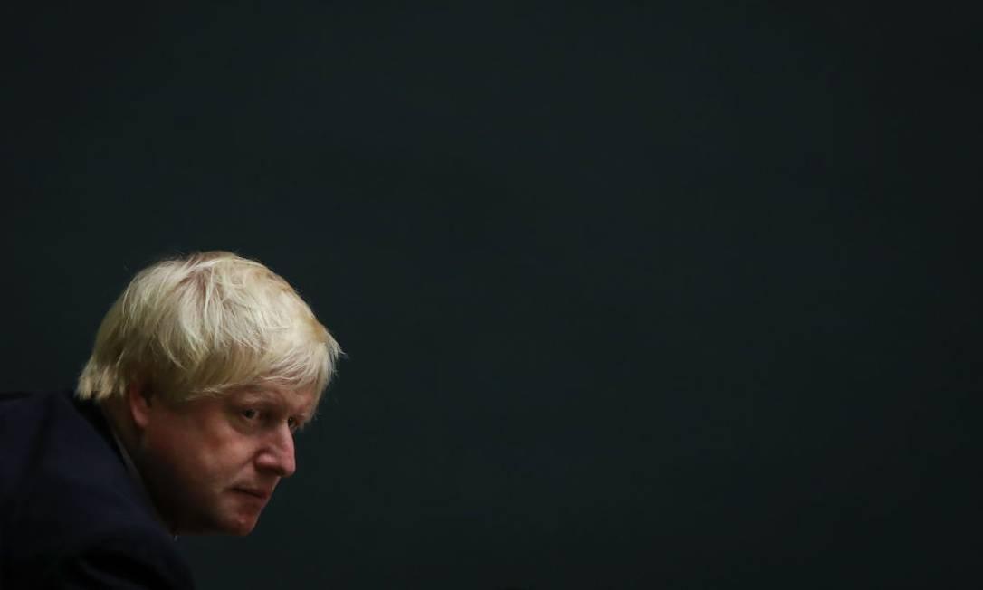 Boris Johnson, quando ministro das Relações Exteriores, durante pronunciamento de Theresa May na sede da ONU, em Nova York Foto: Drew Angerer / Getty Images