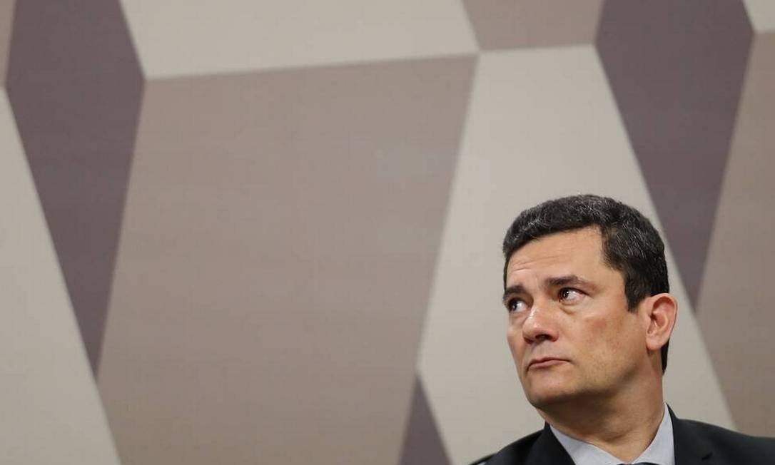 O ministro da Justiça Sergio Moro teve o celular invadido; caso é investigado pela PF na 'Operação Spoofing' Foto: Agência O Globo