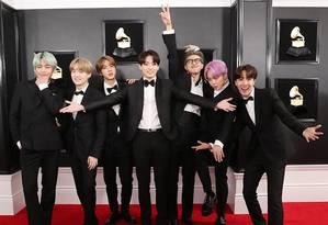 Banda BTS no prêmio Grammy Foto: Divulgação