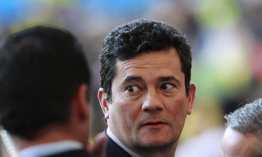 O ministro da Justiça, Sergio Moro, teve o celular hackeado no começo de junho Foto: Márcio Alves / Agência O Globo