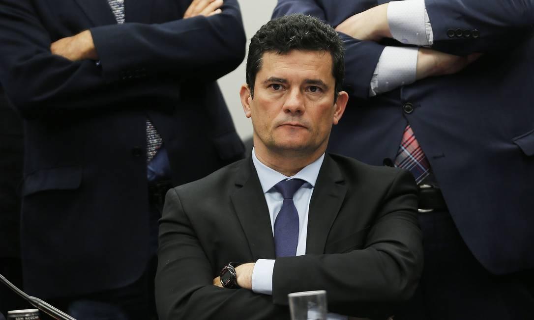 Ministro Justiça, Sérgio Moro fala sobre mensagens da Lava-Jato na Câmara Foto: Jorge William 02/07/2019 / Agência O Globo
