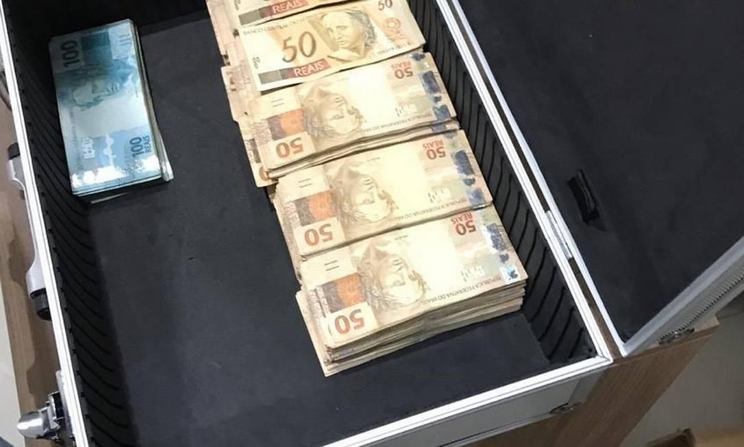 Dinheiro apreendido na Operação Spoofing Foto: Divulgação