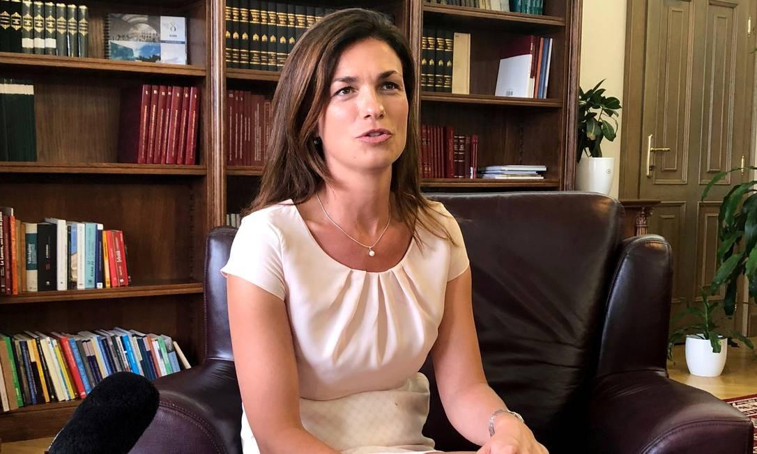 A nova ministra da Justiça da Hungria, Judit Varga: UE já tem salvaguardas suficientes ao Estado de Direito e tenta 'reinventar a roda' com fins políticos Foto: KRISZTINA THAN/REUTERS