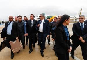 Bolsonaro usou colete à prova de balas em cerimônia de inauguração do aeroporto Glauber Rocha, em Vitória da Conquista, na Bahia Foto: Alan Santos / Presidência