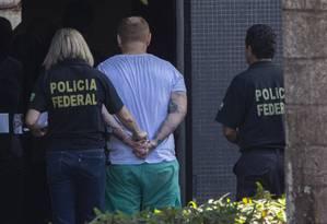 Presos acusados de envolvimento na invasão do Telegram do ministro da Justiça, Sergio Moro Foto: Daniel Marenco/Agência O Globo