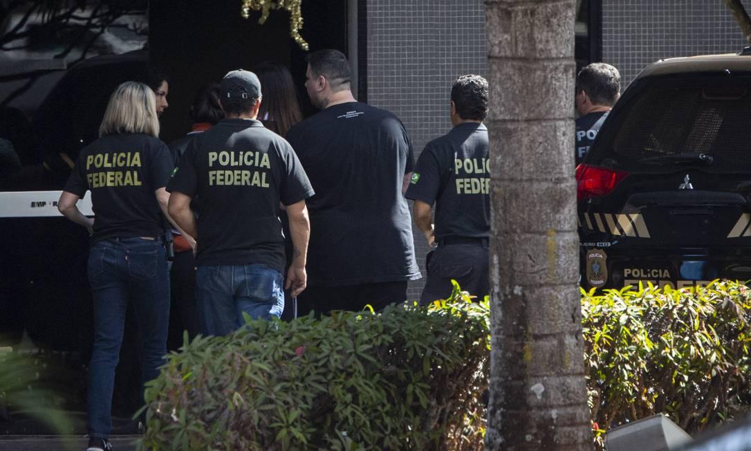 Presos acusados de hackear Telegram de autoridades prestaram depoimento à PF Foto: Daniel Marenco / Agência O Globo
