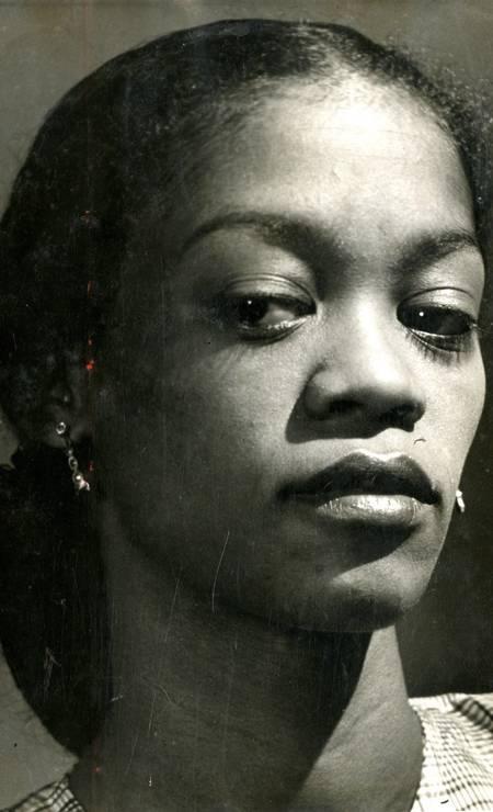 """Ruth de Souza, a atriz do Teatro Experimental do Negro, na peça teatral """"O Imperador Jones"""" Foto: Agência O Globo"""