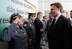 Presidente Jair Bolsonaro em evento de escola em Manaus, no Amazonas. Foto: Isac Nobrega / Agência O Globo