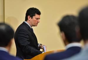 Segundo o ministro do STJ, João Otávio de Noronha, Moro afirmou que o material seria descartado Foto: Bruno Zanardo/Fotoarena / Agência O Globo