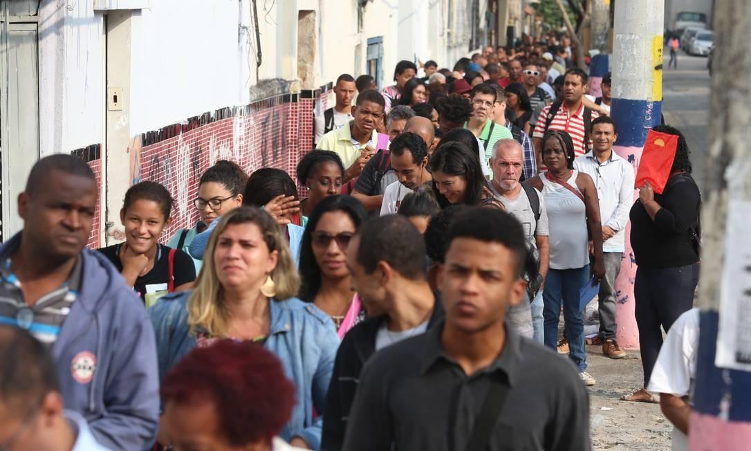 Dados do Cadastro Geral de Empregados e Desempregados (Caged), divulgados na quinta-feira, apontam que o Brasil criou 408 mil vagas de trabalho com carteira assinada no primeiro semestre deste ano Foto: Fabiano Rocha / Agência O Globo