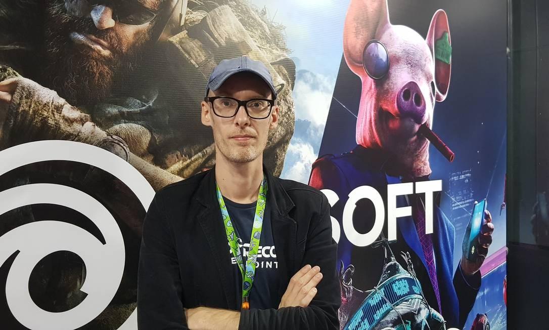 """Nicholas Beetlestone trabalha há oito anos na Ubisoft na produção de sucessos como """"Just Dance"""" e """"Ghost Recon"""" Foto: Sérgio Matsuura"""