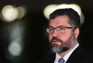 O chanceler brasileiro, Ernesto Araújo Foto: EVARISTO SA / AFP