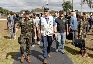 O presidente Jair Bolsonaro visitou o Comando de Operações Especiais - COPESP/EB, em Goiânia Foto: Isac Nóbrega / PR