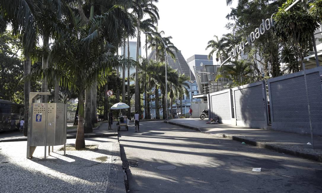 Trecho da Praça Cardeal Câmara, na Lapa, será rebatizado como Rua Marielle Franco Foto: Marcos Ramos / Agência O Globo