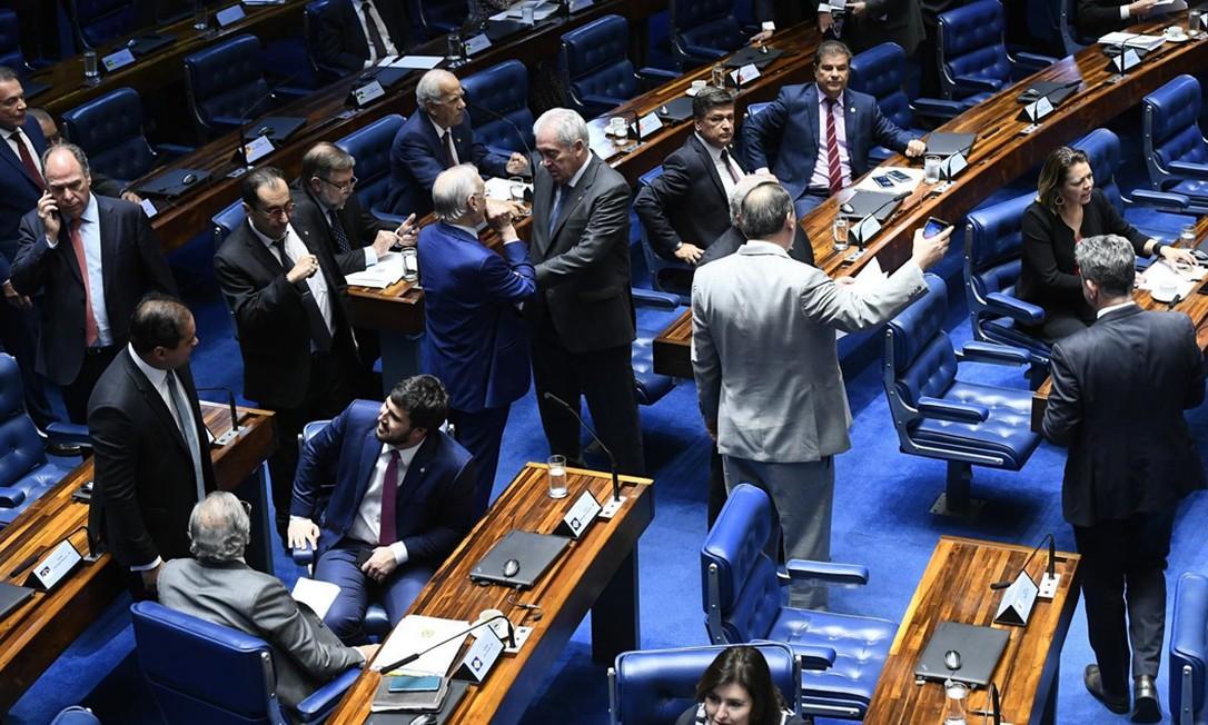 Plenário do Senado: senadores negam que haja disputa com a Câmara por papel de destaque nas votações Foto: Marcos Oliveira/Agência Senado