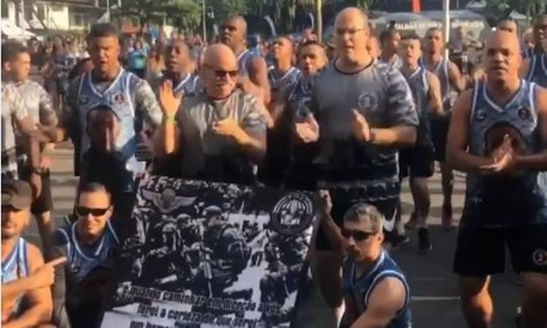 Governador do Rio em evento no Batalhão de Choque, na Cidade Nova Foto: Agência O Globo