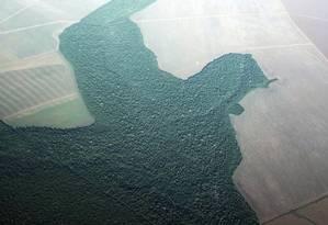 Foto aérea mostra o desmatamento na Floresta Amazônica Foto: Nacho Doce / REUTERS