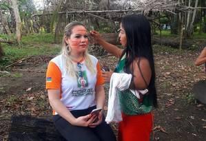 Beth Pelaes, prefeita de Pedra Branca do Amapari, cidade que abriga a demarcação onde vivem cerca de 1.000 índios oiampis Foto: Reprodução/Facebook