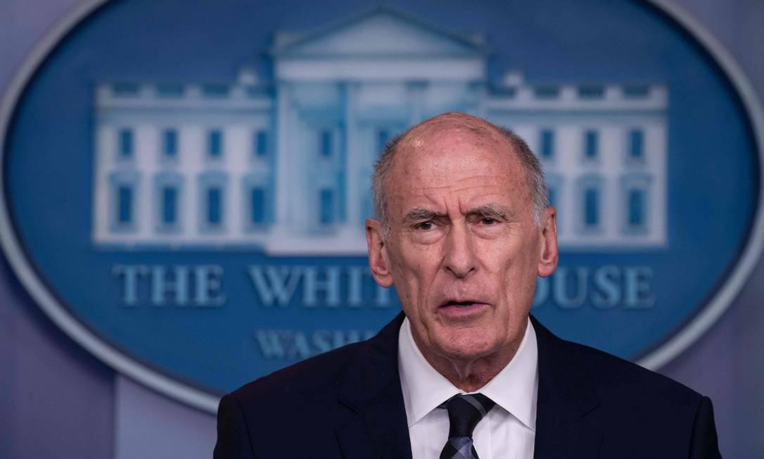 Dan Coats deixa a direção da Inteligência Nacional dos EUA: presidente o acusou de ser 'passivo' e 'ingênuo' Foto: NICHOLAS KAMM / AFP/2-8-2018