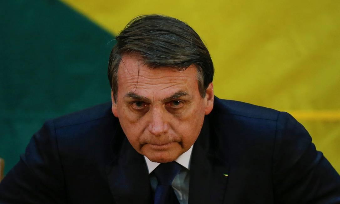 Jair Bolsonaro convocou o presidente do PSL, Luciano Bivar, para reunião no Planalto, na quinta-feira. Na pauta, regras de compliance para a legenda e divergências na base aliada Foto: ADRIANO MACHADO / REUTERS