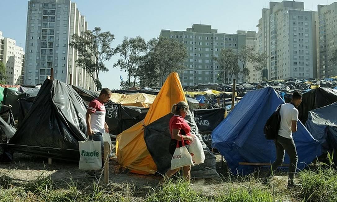 Ocupação do Movimento dos Trabalhadores Sem Teto, em São Bernardo do Campo, São Paulo, em setembro de 2017. Foto: Dario Oliveira/Anadolu Agency / Getty Images