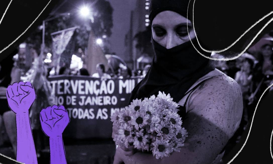 A história do feminismo, com as suas nuances e vertentes oriundas dos diferentes objetivos e níveis de desigualdade enfrentados pelas mulheres ao redor do mundo, é tema do 'Livro do Feminismo' Foto: Arte de Clara Brandão sobre foto de Marcelo Theobald