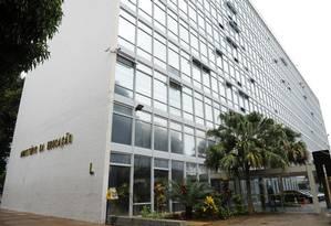 Fachada do Ministério da Educação (MEC), na Esplanada dos Ministérios, em Brasília Foto: Marcos Oliveira/Agência Senado / Marcos Oliveira/Agência Senado