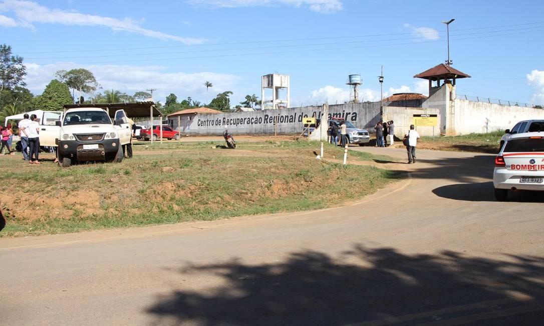 Entrada do Centro de Recuperação Regional de Altamira, no Pará Foto: Felype Adms