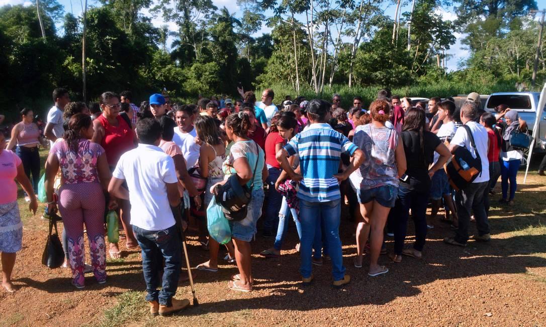 Segundo a Superintendência do Sistema Penitenciário do Pará (Susipe), presos de uma mesma facção criminosa invadiram, às 7h, o anexo do presídio, onde estavam integrantes de um grupo rival, e atearam fogo no local. A fumaça invadiu o anexo e alguns detentos morreram por asfixia. Foto: BRUNO SANTOS / AFP
