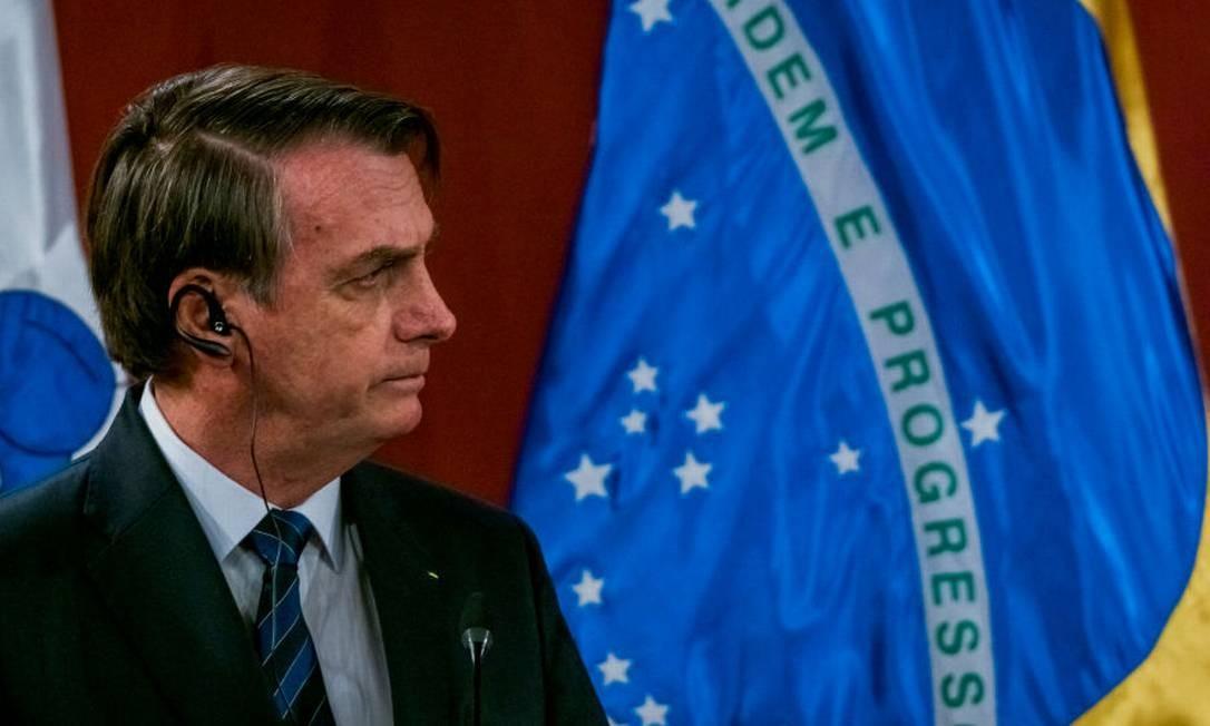 O presidente Jair Bolsonaro em visita ao Chile, em março de 2019 Foto: Sebastián Vivallo Oñate / Agencia Makro via Getty Images