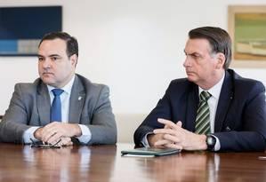 O presidente da República, Jair Bolsonaro, durante reunião da Comissão de Ética Pública Foto: Isac Nobrega / PR