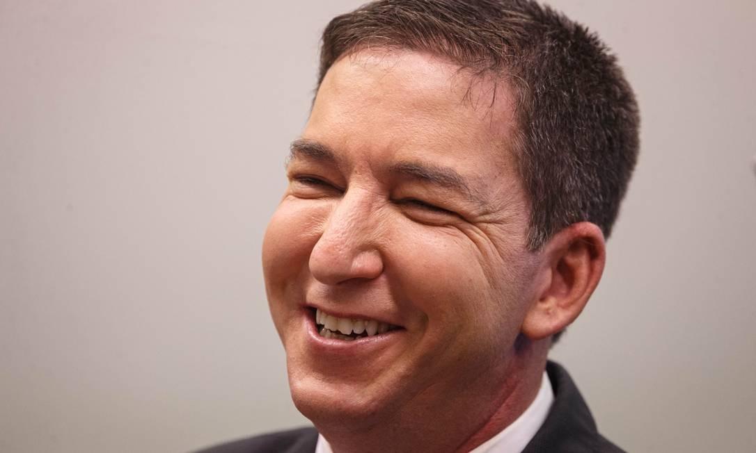 O jornalista Glenn Greenwald em depoimento à Comissão de Direitos Humanos e Minotrias da Câmara dos Deputados, em junho Foto: Daniel Marenco / Agência O Globo