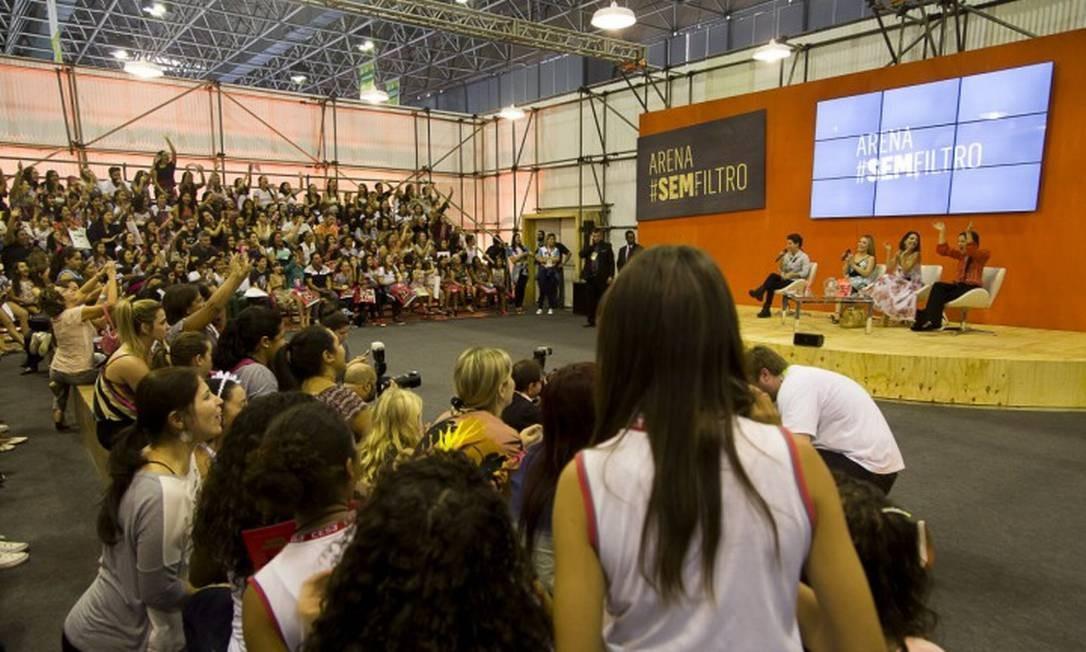 Sucesso em 2017 o espaço 'Arena #SemFiltro' volta nesta edição Foto: Leo Martins / Agência O Globo