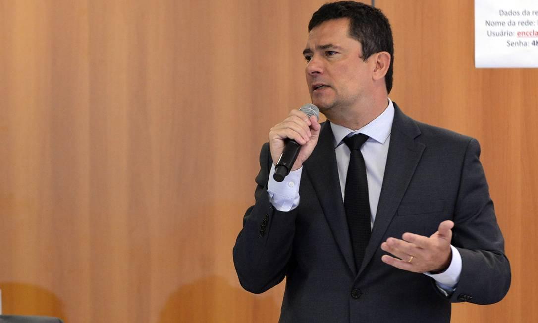 O ministro da Justiça, Sergio Moro, durante evento em Brasília Foto: IsaacAmorim/AG.MJ
