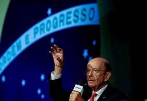 Wilbur Ross pediu atenção ao tratado com Mercosul. Foto: STRINGER / REUTERS