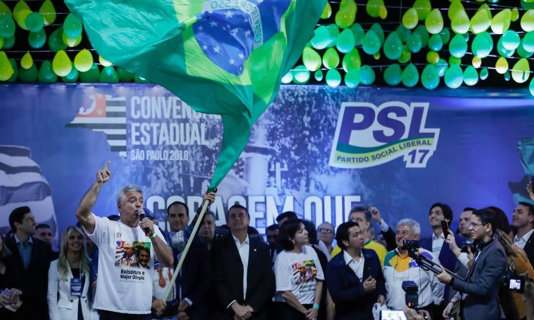 São Paulo (SP), 05/08/2018, Convenção estadual do PSL em SP Foto: Marcelo Chello/CJPress/Agência O Globo