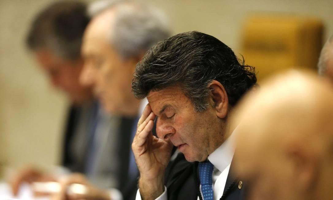 O ministro do STF Luiz Fux Foto: Jorge William/Agência O Globo