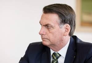 Presidente da República, Jair Bolsonaro, durante reunião da Comissão de Ética Pública Foto: Isac Nobrega 30/07/2019 / Agência O Globo